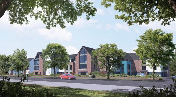 A CGI of the new care home in Leamington