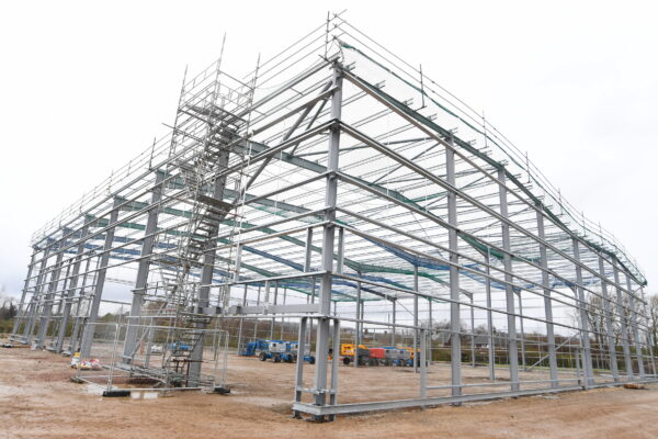 The new trade park taking shape at Teal Park in Nottingham